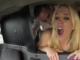 follando en el taxi